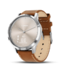 vívomove HR Silver Tan Leather | スポーツ・フィットネス | 製品 | Garmin | Japan
